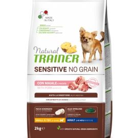 Natural Trainer Sensitive No Grain Small & Toy Adult con maiale e patate