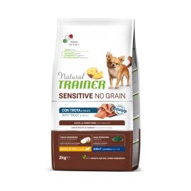 Natural TrainerSensitive No Grain Small & Toy Adult con trota e patate