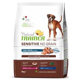Natural Trainer Sensitive No Grain Medium&Maxi Adult con trota e patate